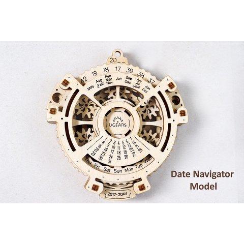 Механічний 3D-пазл UGEARS Навігатор дат