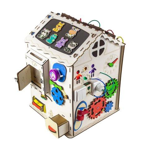 Бизиборд GoodPlay Большой развивающий домик с подсветкой (35×35×50) Превью 1